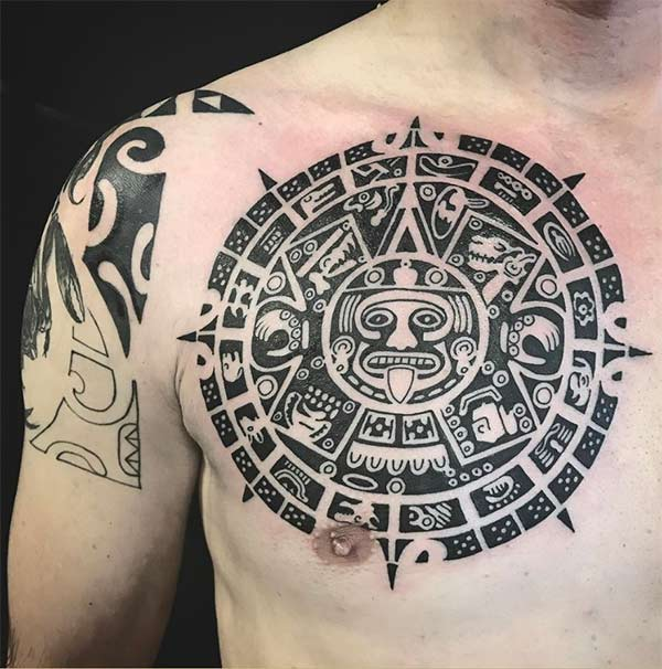Impressionants idees tatuadores tribals aztecas per a homes
