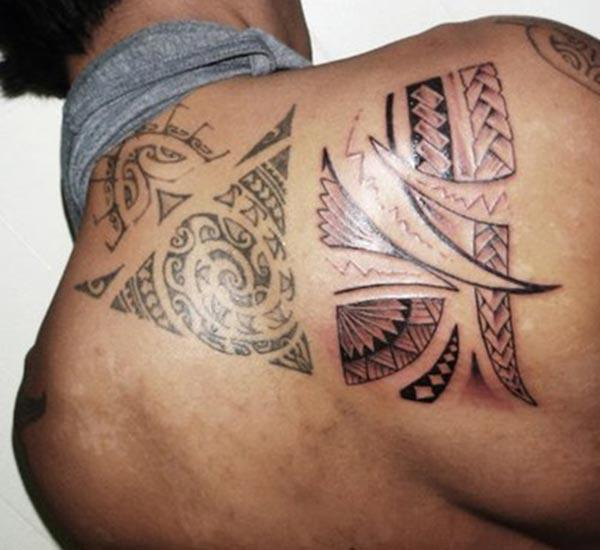 Lovely Samoan tribal tattoo ideas on back for Girls