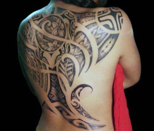 Alluring Samoan tribal back tattoo designs for Ladies