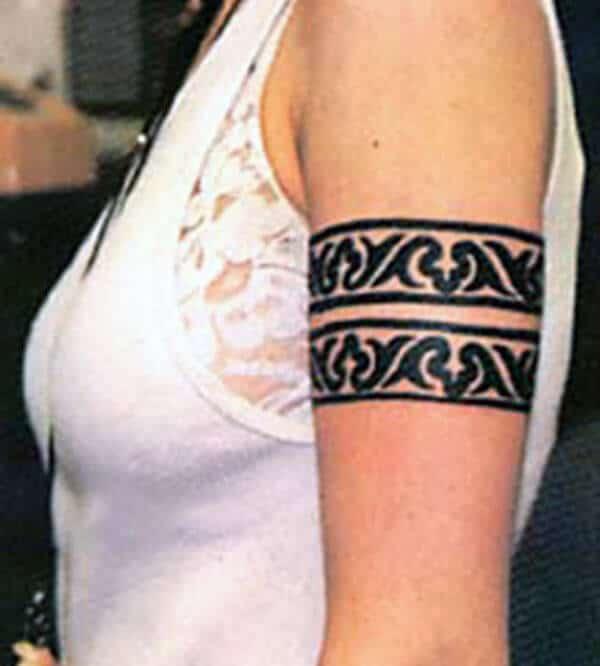 Bold dhe kapjen e ideve tatuazh fisnor armband për zonjat