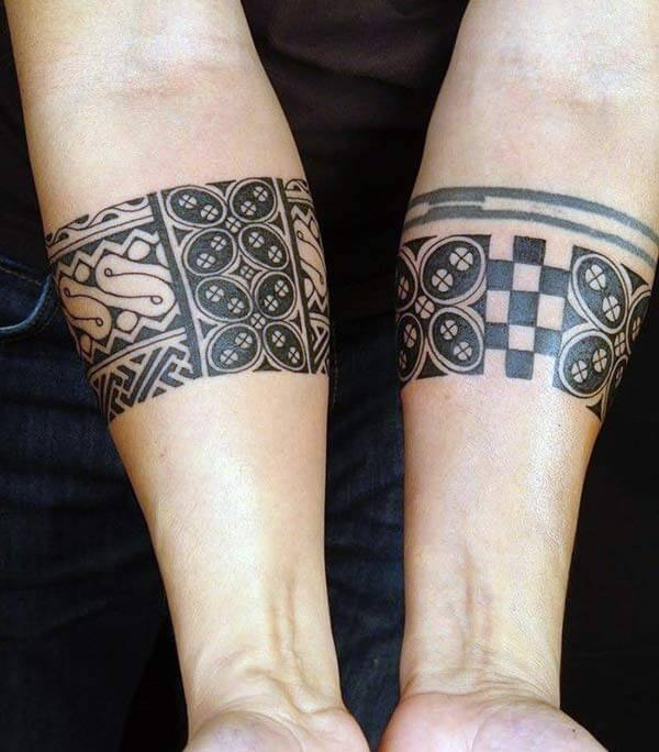 Brilliant artistic tribal armband tattoo ideas for women