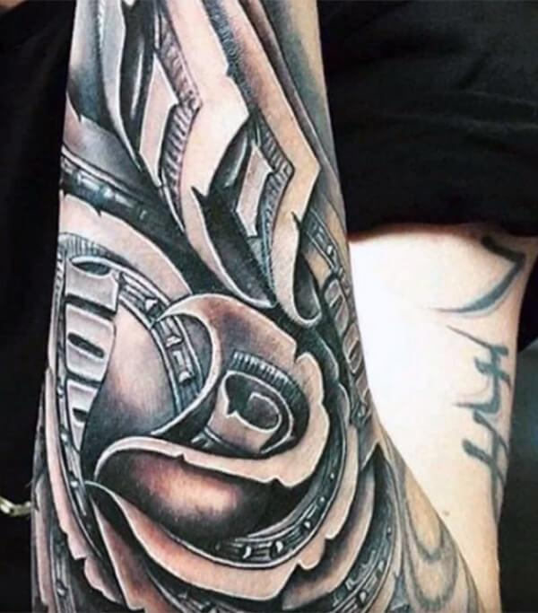Smashing money tattoo ideas on arm for Men