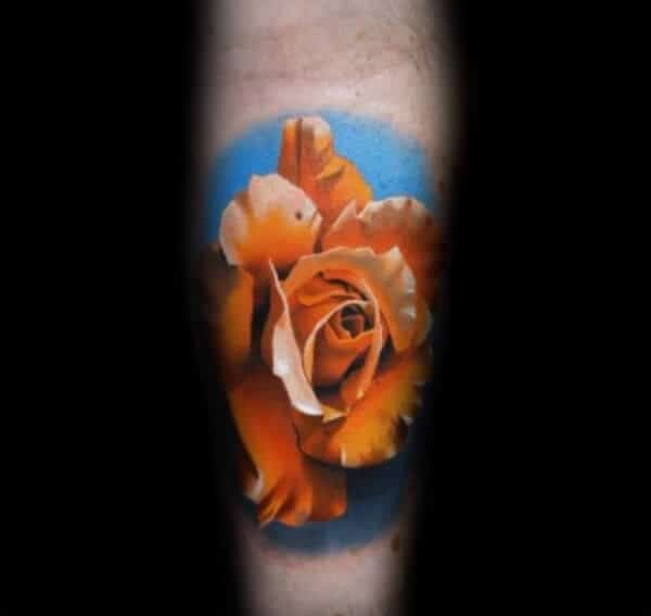 Picturesque rose tattoo ideas on forearm for Men
