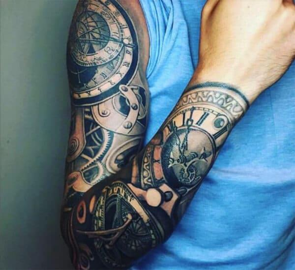Stunning artistic 3D sleeve tattoo designs for boys and Men