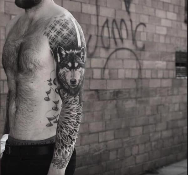 Captivating cool wolf sleeve tattoo ideas for Boys and men