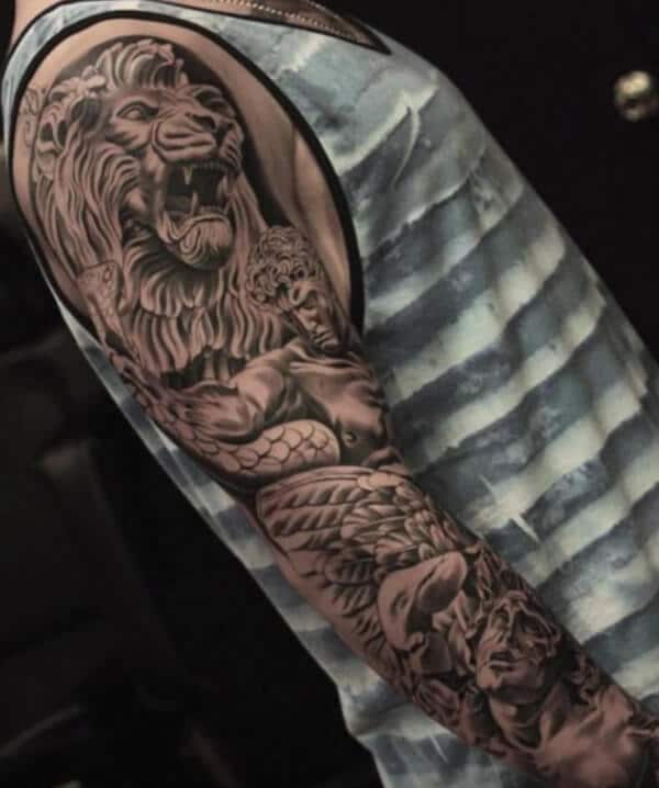 Majestic amazing sleeve tattoo ideas for Guys