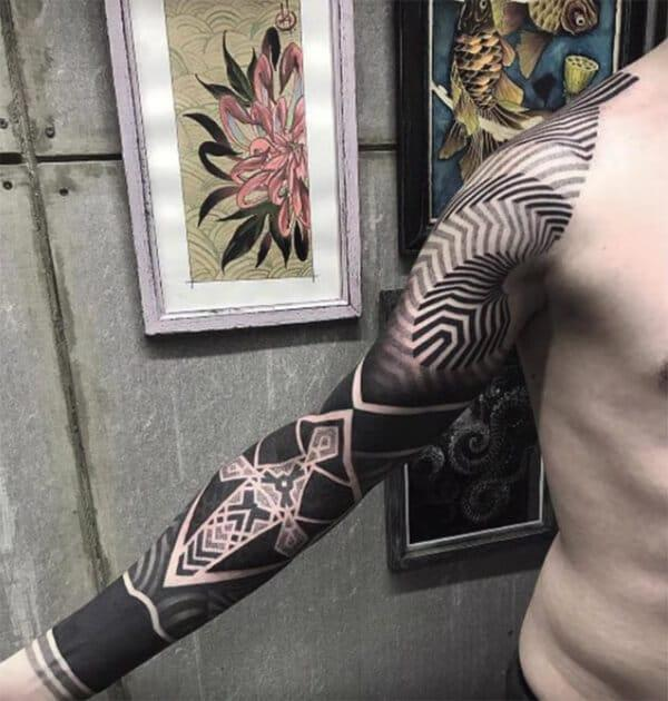 Terrific 3D sleeve tattoo ideas for Men
