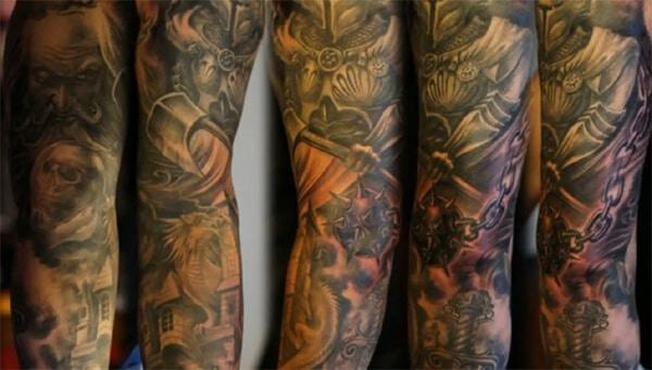 Outstanding unique sleeve tattoo designs for Guys
