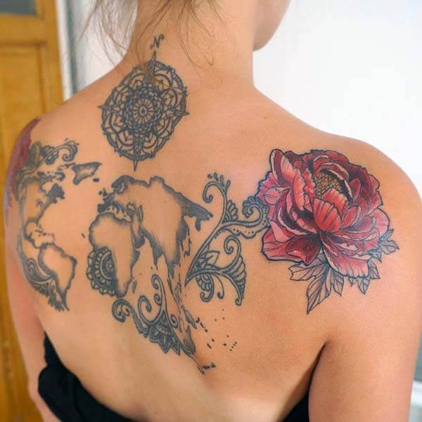 interesting and captivating back tattoo ideas for girls