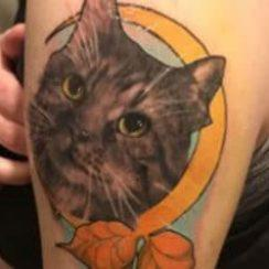 Cat Tattoos ga mata