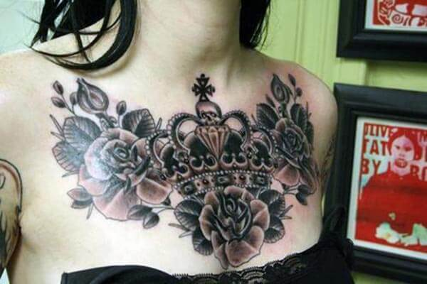 Tattoo Ideas For Women Chest: Best Chest Tattoos Ink Idea For Women