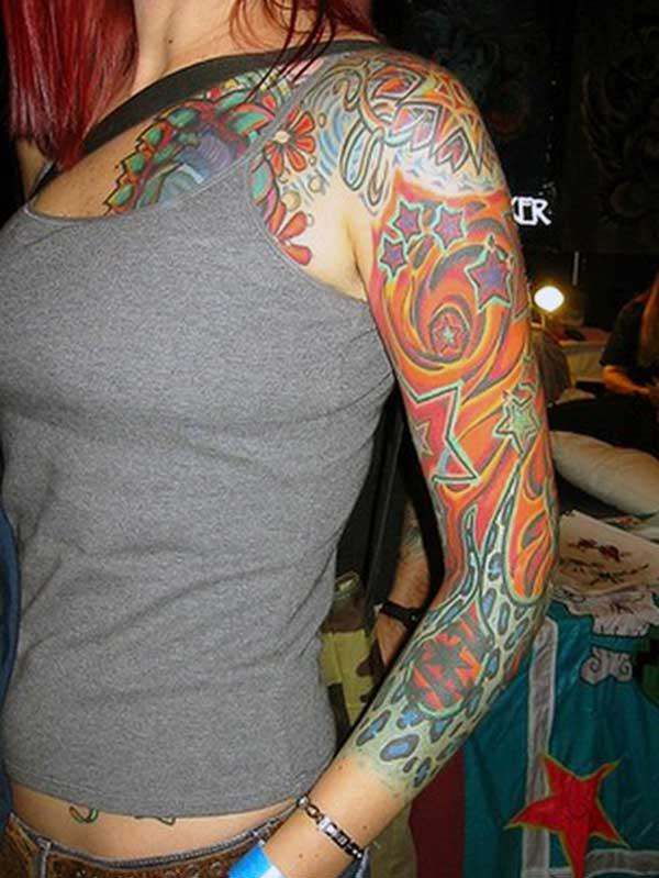 idées de tatouage de bras multi conçu vibrant exquis pour des dames