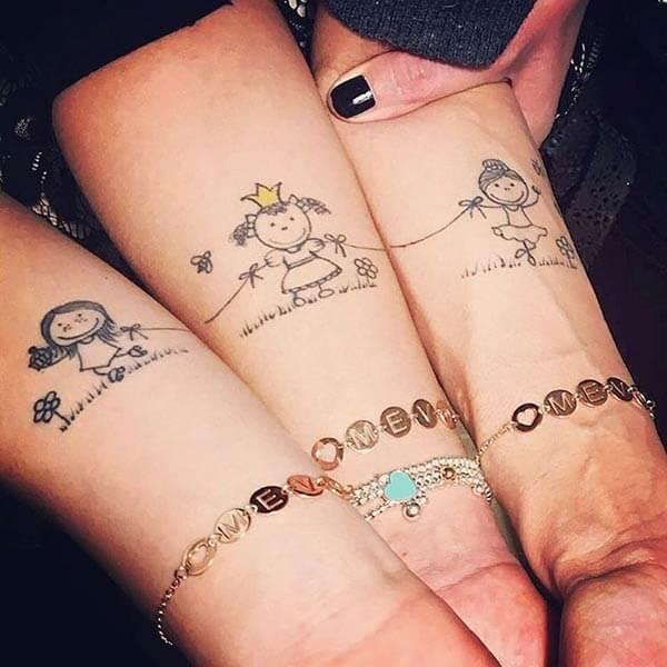 labākais draugu tetovējums idejas par apakšdelmu meitenēm