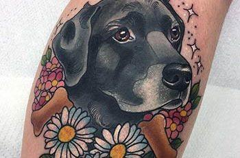 dog tattoo design for women