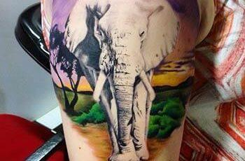 Elephant Tattoo Design for Women