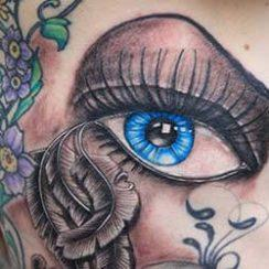 Eye Tattoo Design for Women