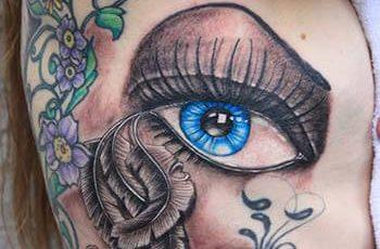 Eye Tattoo Design für Frauen