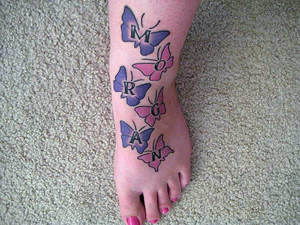 An impressive foot tattoo design for Girls