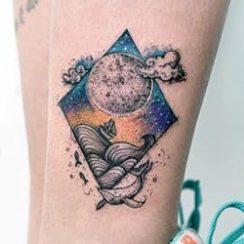 Γεωμετρικά σχέδια τατουάζ για τις γυναίκες