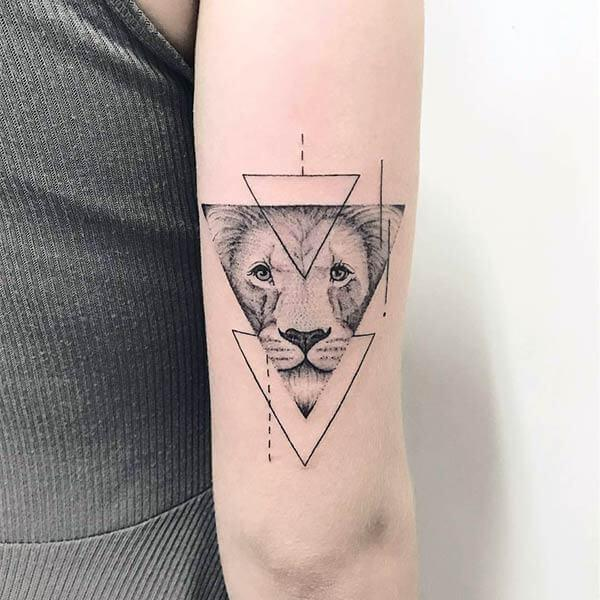 A magnificent geometric tattoo design on back hand for girls and ladies