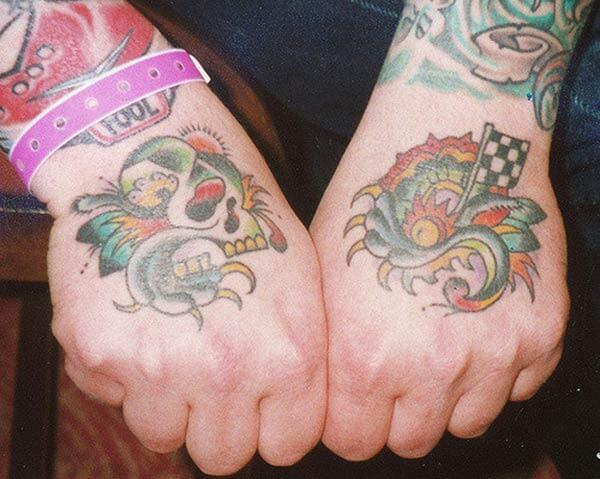 An attractive hand tattoo design for ladies