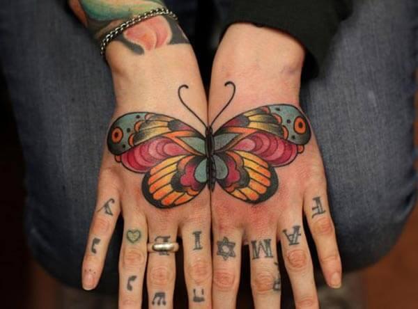 An outstanding hand tattoo design for girls