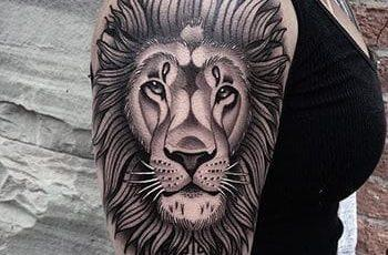 Lion Tattoo Women Design