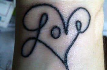 Love Tattoo Design for Women