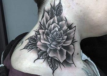 Neck Tattoo Design for Women