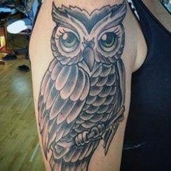 Owl Tattoo Design for Women