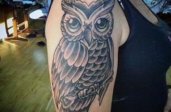 Owl Tattoo Design for Women