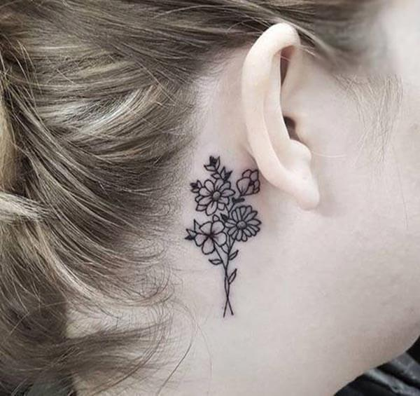 A delightful behind the ear design for ladies