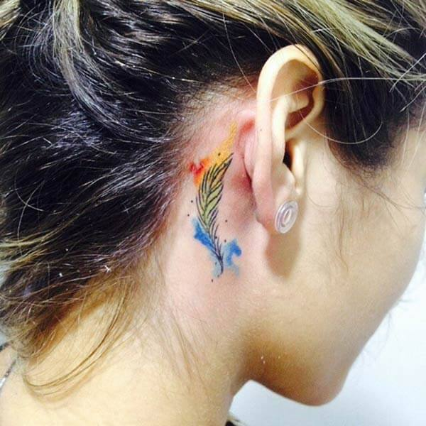A catchy tattoo for Ladies, behind their ear
