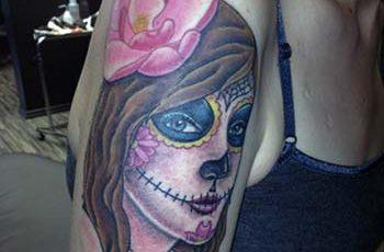 day of the dead tattoos for women