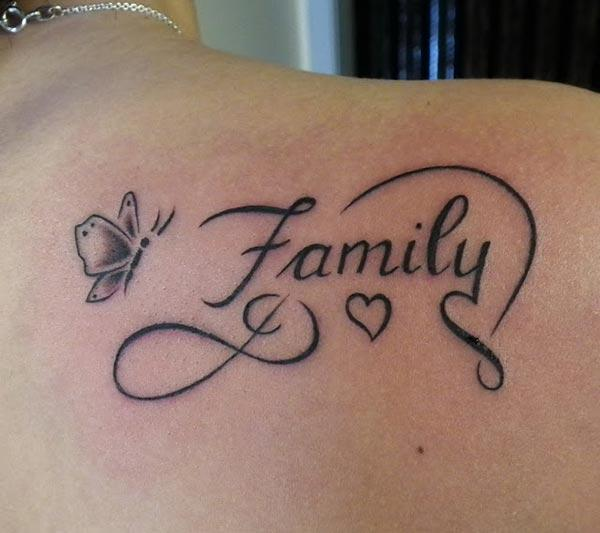 A heavenly family tattoo design on side shoulder for Women