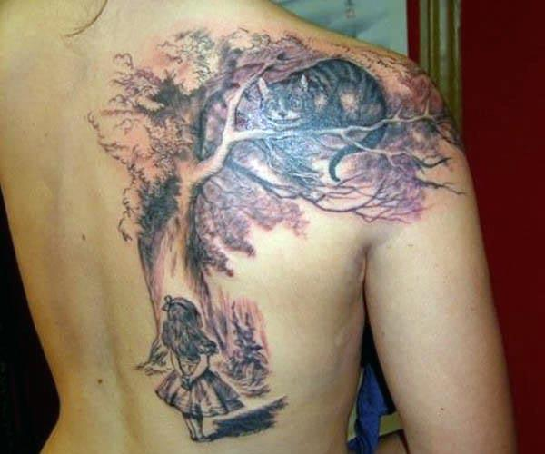 A lovely tree tattoo design that will beautifully adore the back of any woman