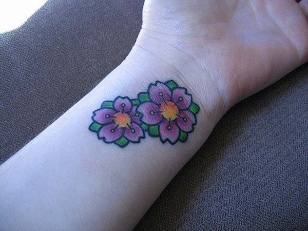 A cute wrist tattoo design for girl