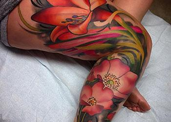 Leg Tattoo Designs for Women